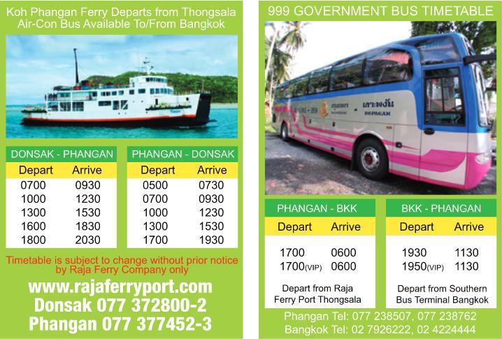 bus ferry koh phangan - gobierno
